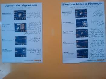 la poste traduit ses textes en arabes