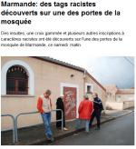 Islamophobie : la mosquée des Marmandes taguée