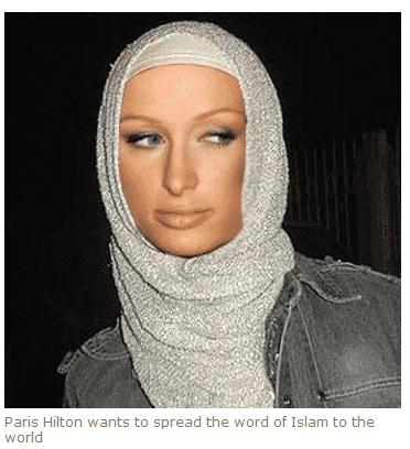 Paris Hilton convertie à l'islam, paris hilton converted to islam