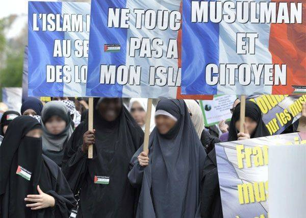 Manifestation contre l'islamophobie en France