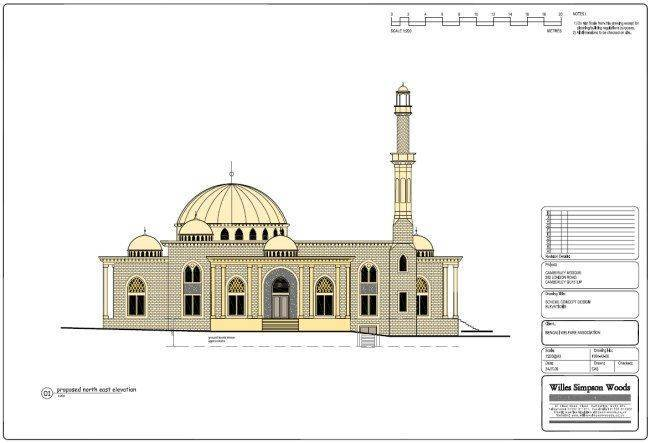 Plans de la mosquée de Sandhurst