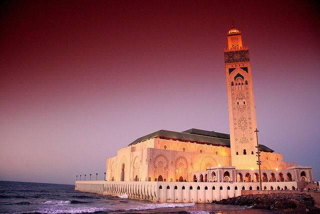 Mosquée Hassan 2 à Casablanca au Maroc