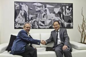 Rencontre de l'émissaire chinois en Palestine