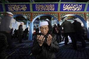 Musulman chinois faisant du3a