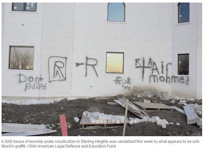 Temple Sikh victime d'islamophobie