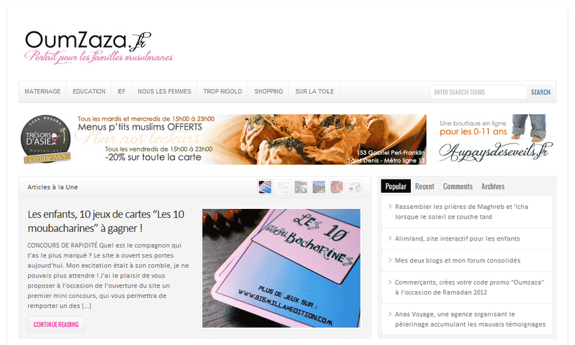 OumZaza lance son site et on aime !