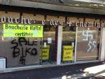 Islamophobie : tags nazis retrouvés sur une boucherie halal à Saint-Germain-en-Laye