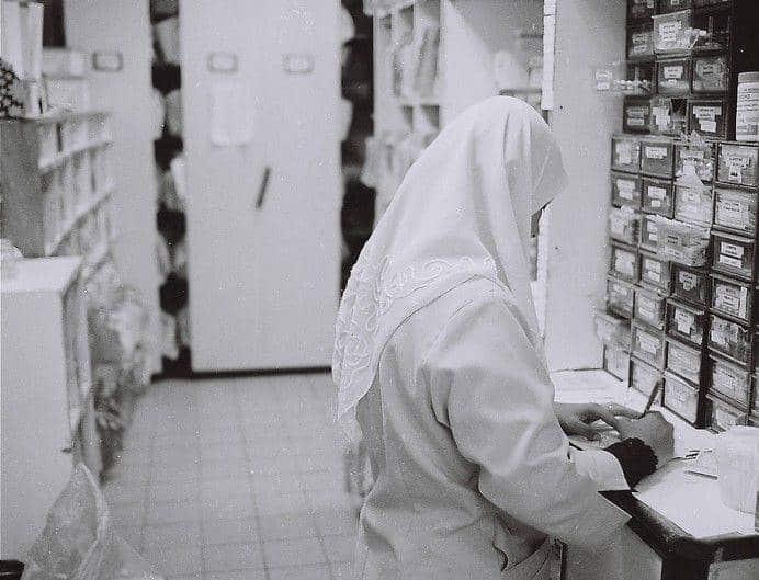 Infirmière portant le hijab