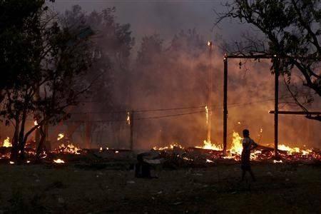 Birmanie incendie