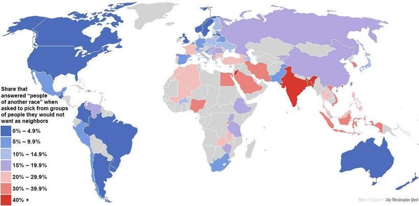 les pays les plus racistes