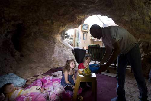 grotte famille palestinienne