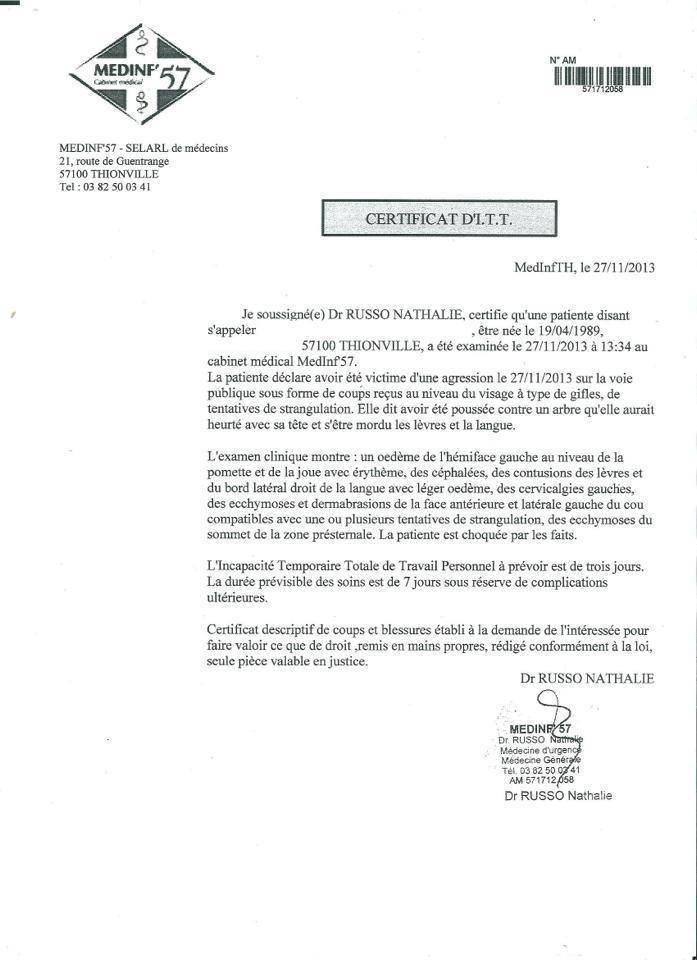 certificat-itt-agression