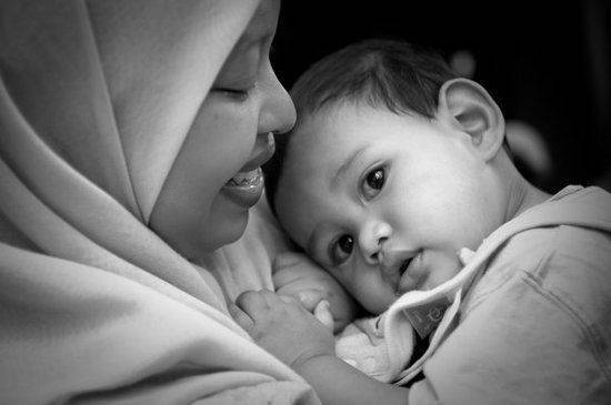 maman musulmane et enfant