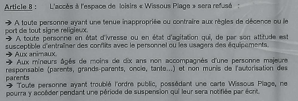 Règlement article 8