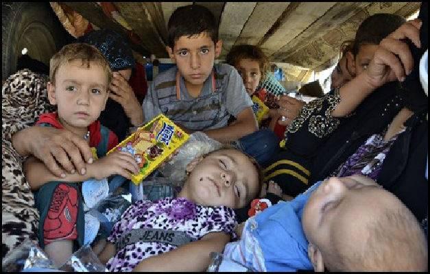 Yazidi children in Iraq