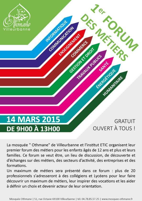 Forum des métiers Mosquée Othmane