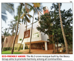 Inde : ouverture de la première mosquée écolo au monde