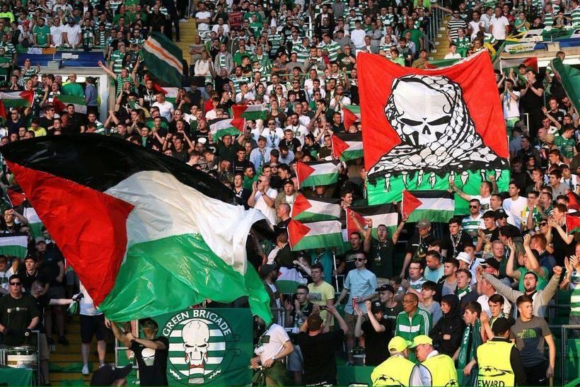 Le celtic glasgow soutient la palestine!