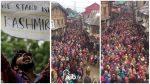 Vidéo impressionnant : les musulmans indiens du cachemire se lèvent en masse