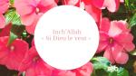Pourquoi faut-il dire en Islam: « Inch'Allah » ?